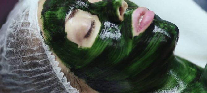 Маска из спирулины для лица